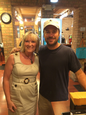 Chris O'Donnell @ Scissors Edge Salon Winnetka 13.08.2015